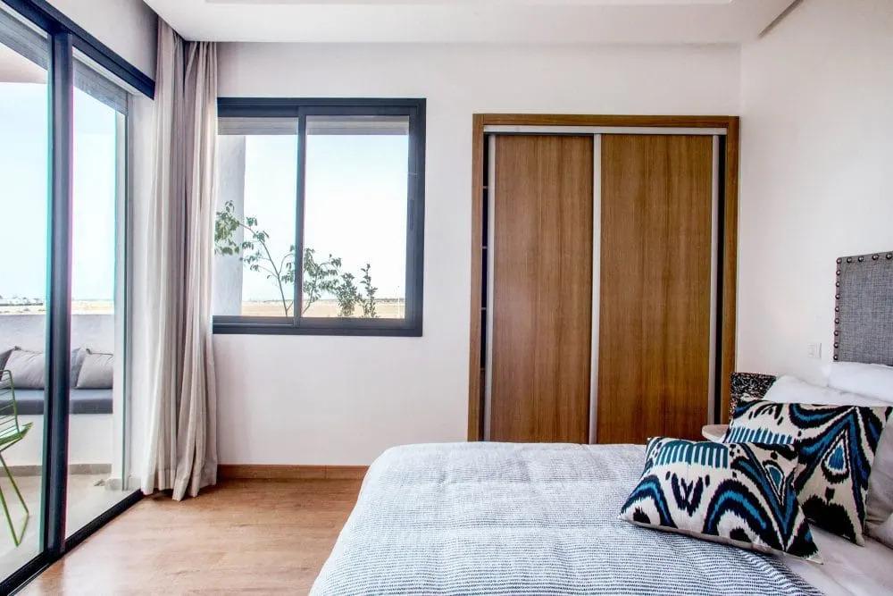 Chambre appartement temoin Mansouria Beach Resort Mohammedia Bouznika - Accueil