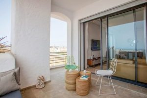 Terasse appartement témoin Mansouria Beach Resort Mohammedia Bouznika