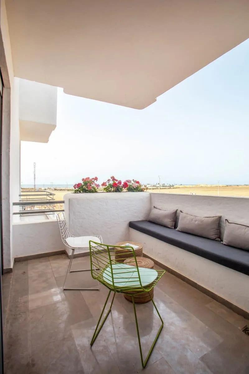 Terrasse appartement temoin Mansouria Beach Resort Mohammedia Bouznika - Accueil
