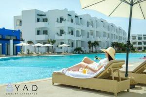 Piscine relax résidence balnéaire Mansouria Beach Resort